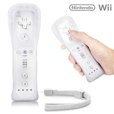 Controlador Remoto Blanco Para NINTENDO WII & WII U + Silicona + Correa