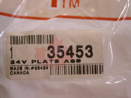 24V STARTER PLATE 35453 40//50MT  NEW RCP INC