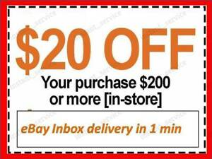 One~1x~ Home Depot Coupon $20 OFF $200 InStoreOnly ~~ lNSTANT~FAST~S