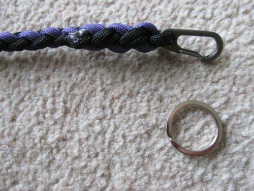 Paracord BINOCULAR NECK STRAP *Black Purple 50inch* Lanyard Survival Nature EDC