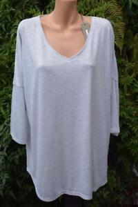 SUSSAN-Silver-Grey-TOP-SIZE-XXL-Stylish-Rounded-Hem-NEW-RRP-49-95-L-Sleeve