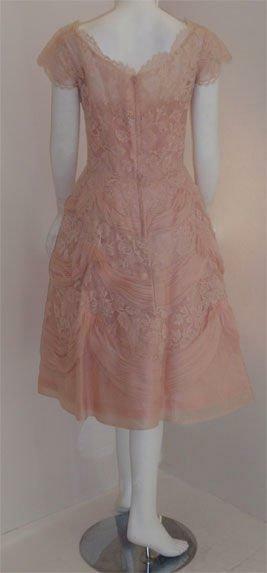 CEIL CHAPMAN 1950s Light Pink Lace Cocktail Dress - image 2