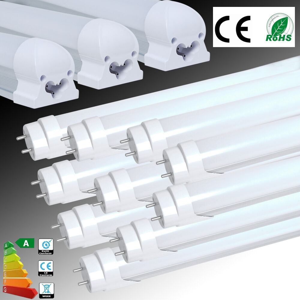 1 4 10x T5 T8 G13 1FT2FT 4FT LED SMD Luz Tubo Lámpara Fluorescente Reemplazo