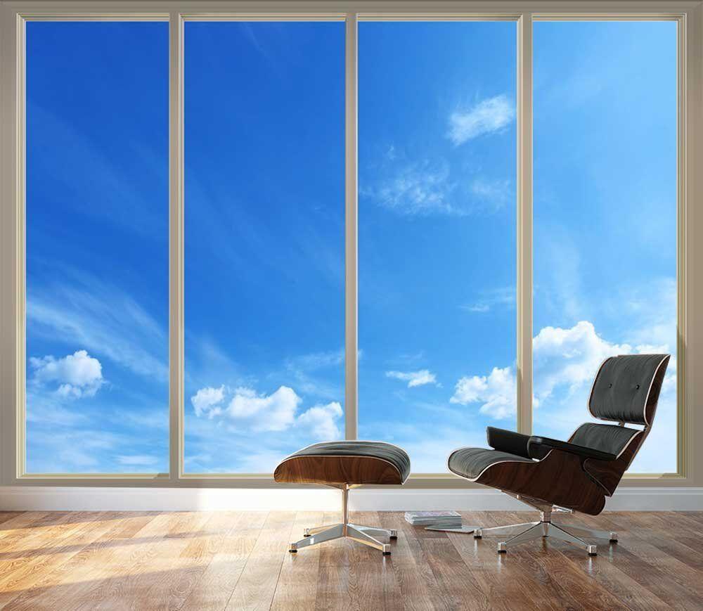 grand Papier Peint-Clear bleu Sky vu par portes coulissantes en verre - 66 x96