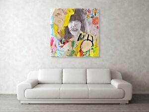 Jane-Birkin-Dadaismus-XXL-130-x-130-cm-Arcylglas-5-mm-Pop-Art-Malerei-StreetArt