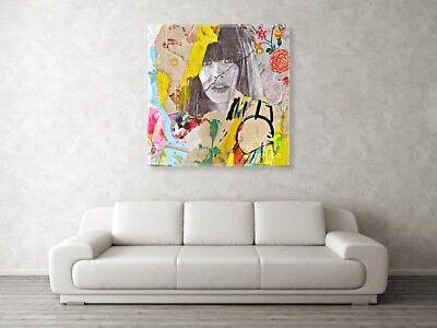 Motiv Portrait Paulchen XXL 80x80 cm Leinwand Pop Art//Malerei//StreetArt//Bild