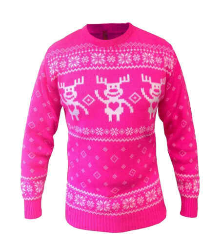 Christmas Jumper Unisex Mens Womens Knitted Xmas Novelty Vintage All Sizes X-mas