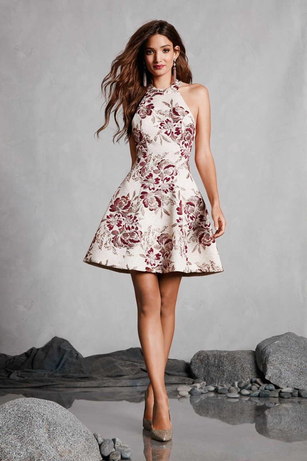 Dress the Population Hannah Fit & Flare Dress (Größe XL)