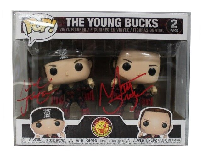 Autographed Young Bucks NJPW divertiessitoko Pop, 2 pack Elite BTE