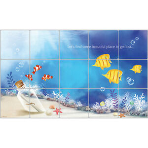 Kitchen Wallpaper Border Blue Design Aluminum Foil Self ...
