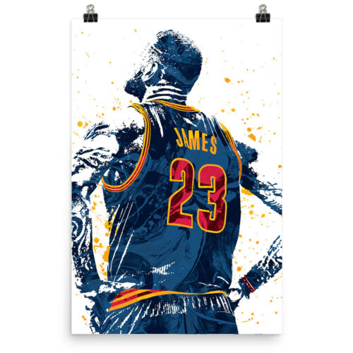 LeBron James Jersey Cleveland Cavaliers Poster FREE US SHIPPING