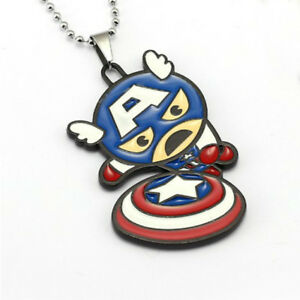 Marvel-Comics-Kawaii-Captain-America-Necklace