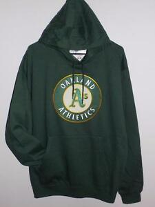the latest d9c1d 35f26 Details about NWT OAKLAND ATHLETICS A'S SUEDETEK GREEN HOODIE SWEATSHIRT  HOODED