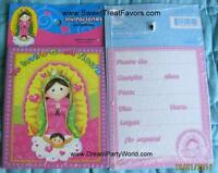 Virgencita Guadalupe Party Baptism Invitation Invite X18 Lupita Fiesta Virgen Nw