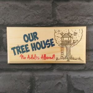 Astonishing Details About Our Tree House Plaque Sign Gift No Adults Allowed Treehouse Kids Garden 368 Beutiful Home Inspiration Xortanetmahrainfo
