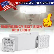 Led Emergency Exit Light Double Dual Head Home Office Market Ul Lighting Lamp