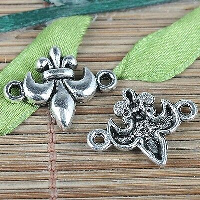 18pcs tibetan silver color French flower connector charms EF0233