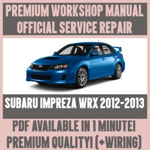 workshop manual service repair guide for subaru impreza wrx 2012 rh ebay it Subaru WRX Interior 2015 subaru wrx service manual