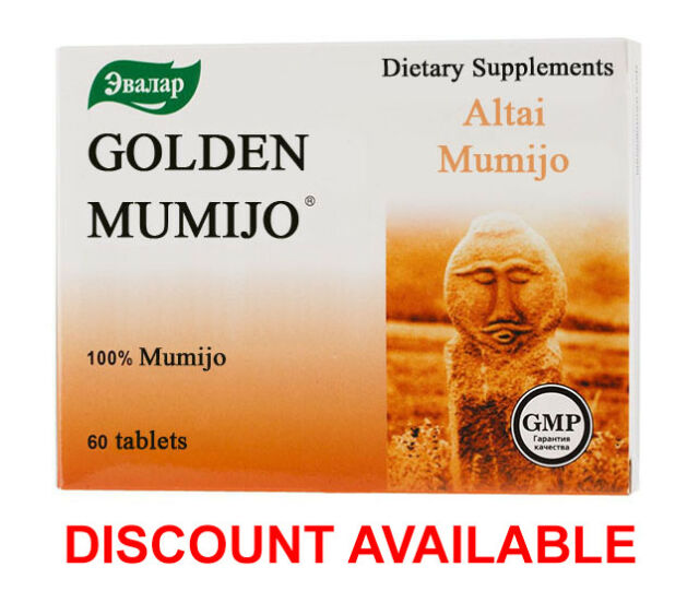 60 tab Golden SHILAJIT mumijo мумие mumiyo DISCOUNT AVAILABLE