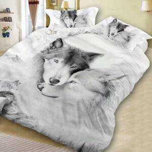 3D-Wolf-Bedding-Set-Duvet-Cover-Pillow-case-Parures-housses-de-couette-literie