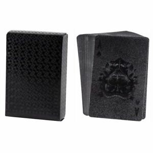 Waterproof-Playing-Cards-2-Standard-Decks-of-Luxury-Black-Plastic-Poker-Cards