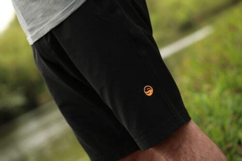 Guru Shorts Schwarz Grob /& Karpfenangeln Bekleidung