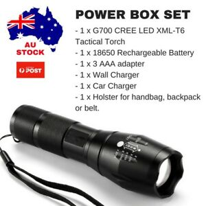STRONG LED CREE XML T6 2000x Tactical Torch FLASHLIGHT Security Camping Walking