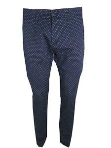 791e1621aeb36d Caricamento dell'immagine in corso pantaloni-uomo -guy-slim-fantasia-a-pois-blu-