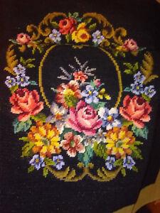 Awe Inspiring Details About Woollen Needlepoint Floral Flowers Chair Seat Cover Needlework Tapestry Canvas Inzonedesignstudio Interior Chair Design Inzonedesignstudiocom