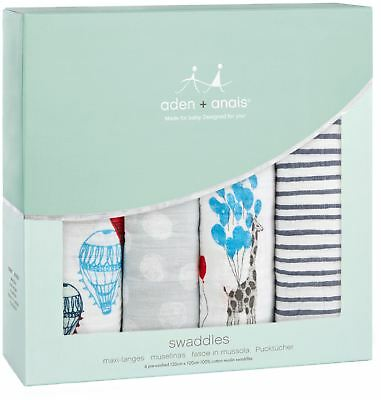 Ambitious Aden + Anais Classic Swaddle 4 Pack Dream Ride Baby Bedding Blankets Bn