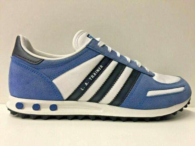 adidas trainer blu pelle