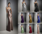 Hot Long Satin Formal Prom/Bridesmaid Cocktail Party Evening Dress Size 6-18 New