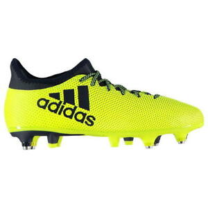 size 40 a5aa6 a86f2 Image is loading adidas-X-17-3-Soft-Ground-Football-Boots-