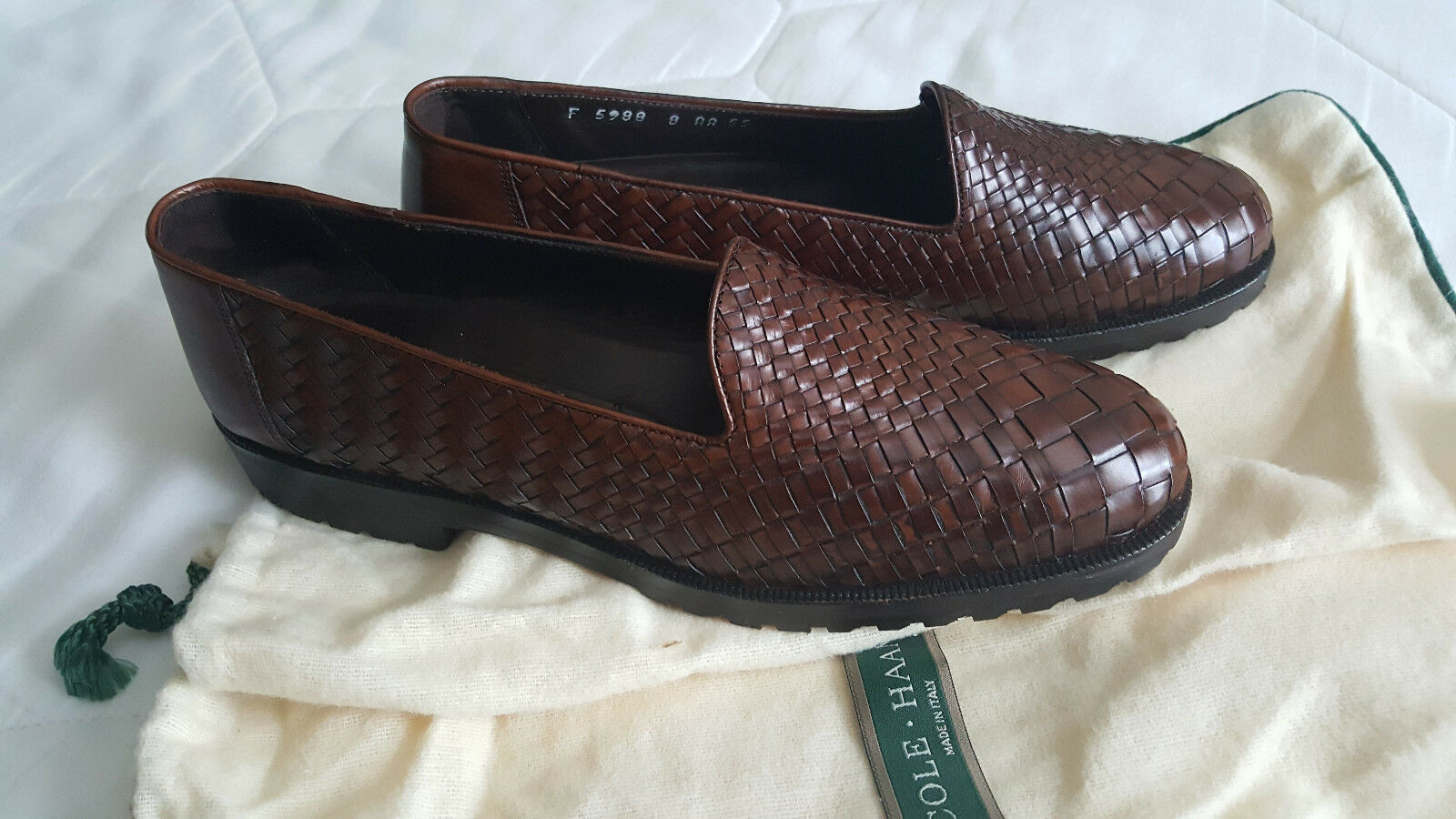 Cole Size Haan Donna Loafers Loafers Loafers Pelle Woven Italy Size Cole 8 AA Style   d80997