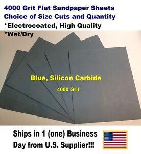 "Wet Dry  Sandpaper 4000 Grit 9/"" x 11/"", 5 Sheets"