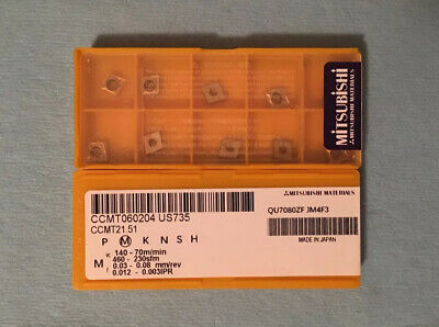 Grade VP15TF Carbide Inserts 10 new MITSUBISHI CCMT21.51 CCMT060204