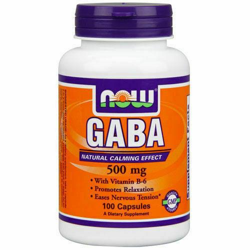 Now Foods GABA 500mg 100 Veg Capsules