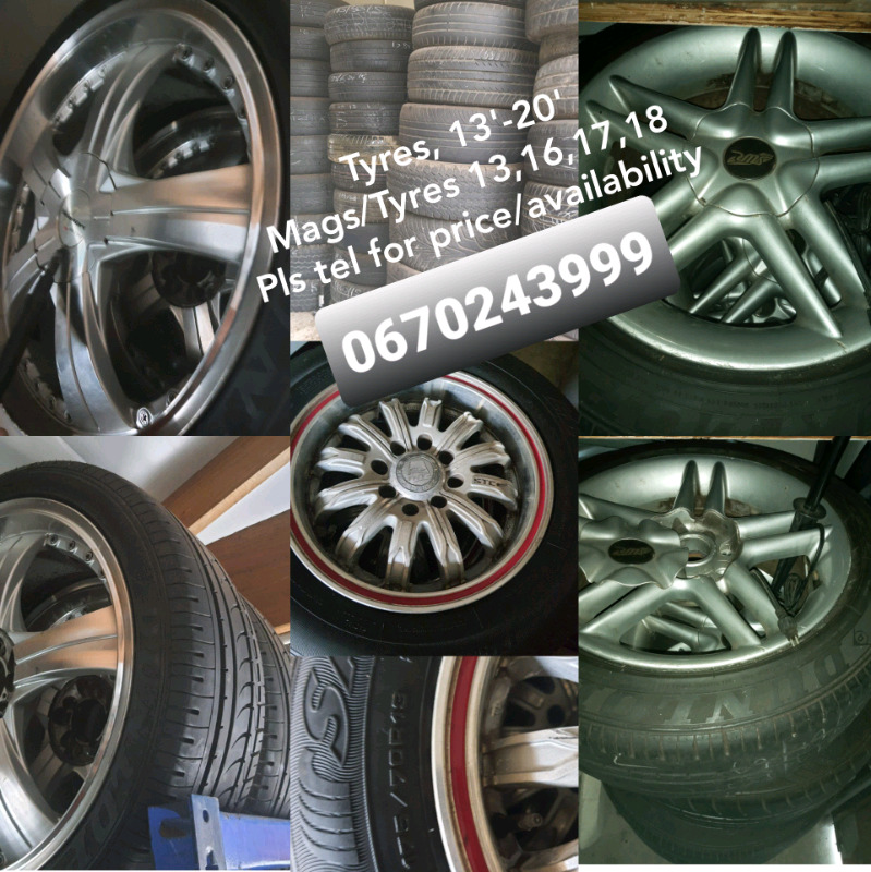 """Tyres 13""""-20"""". Mags and tyres 13, 16,17,18"""