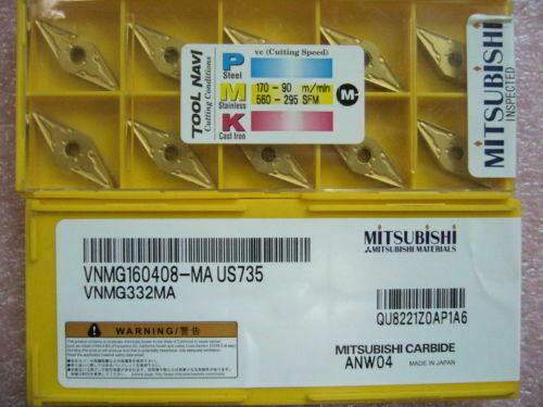 MA US735 VNMG332 FOR steel/cast iro 10pcs VNMG160408 Business ...