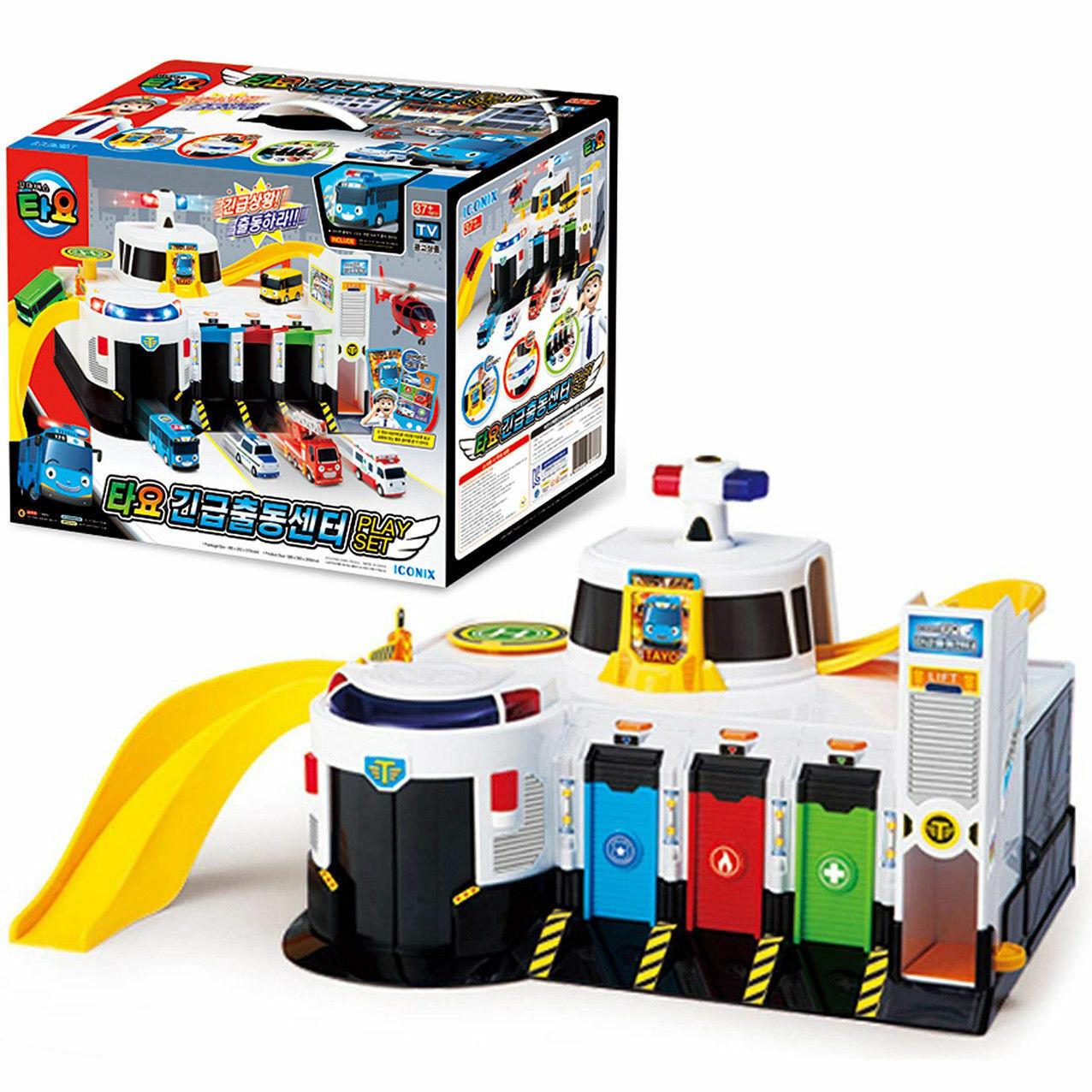 The Little Bus TAYO Emergency Rescue Center Headquarter Play Set Main Garage