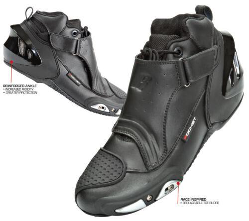 **Fast Shipping**  JOE ROCKET Velocity V2X Black Motorcycle Hybrid Shoe