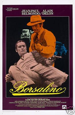 Borsalino Alain Delon Gangster vintage movie poster