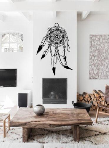 Dream Catcher Mandala Illustration Boho Wall Decal Sticker Feather