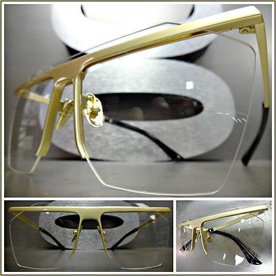 CLASSIC VINTAGE RETRO Style Clear Lens EYE GLASSES Matte Tortoise Fashion Frame