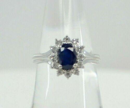 14k White Gold Princess Diana Inspired Sapphire &