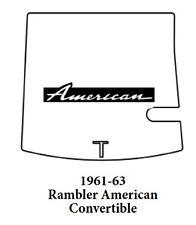 1961 1963 AMC Rambler Convertible Trunk Rubber Floor Mat Cover w/ A-007 American