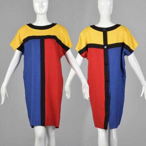 S 1980s Short Sleeve Oversized Cocoon Dress Mondri