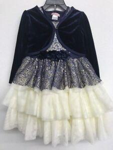 NEW-Nanette-Lepore-Girls-Dress-Navy-White-6-Months
