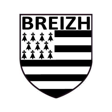 Autocollant blason Bretagne Breton Breizh sticker Taille:8 cm