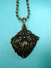 Harry Potter Bronze Toned Hagrid Wizard Charm Pendant Metal Necklace